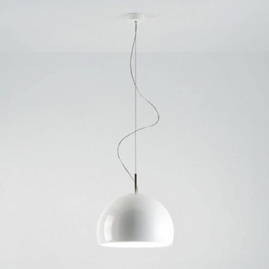 PRANDINA BILUNA S5 SUSPENDED LAMP GLOSSY WHITE