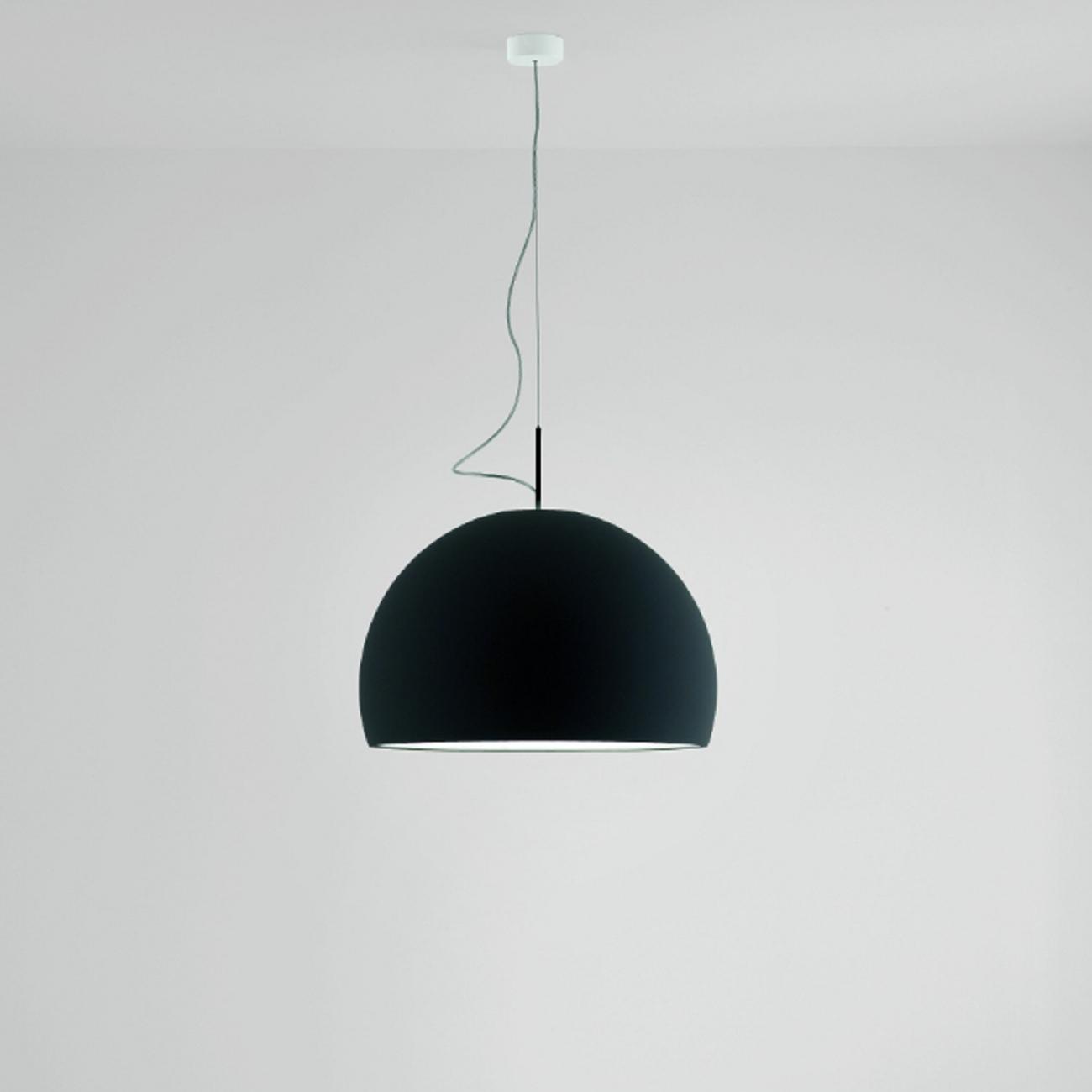 suspended lighting. prandina biluna s7 suspended lamp matt black suspended lighting