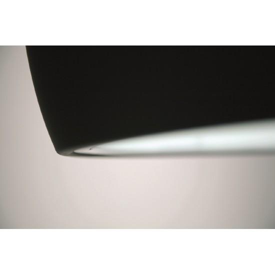 PRANDINA BILUNA S7 LAMPADA A SOSPENSIONE NERO OPACO