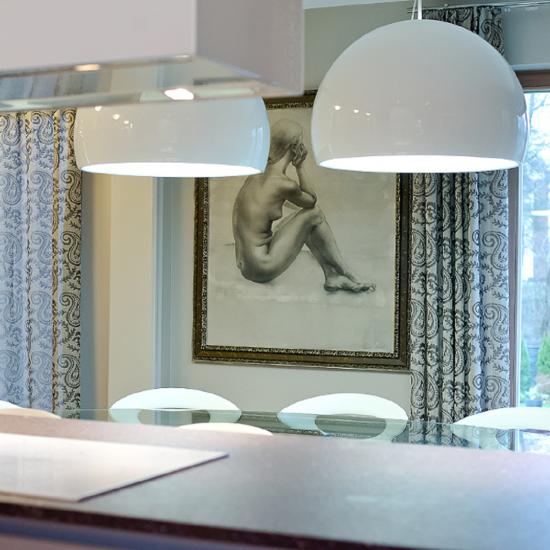 PRANDINA BILUNA S7 SUSPENDED LAMP GLOSSY WHITE