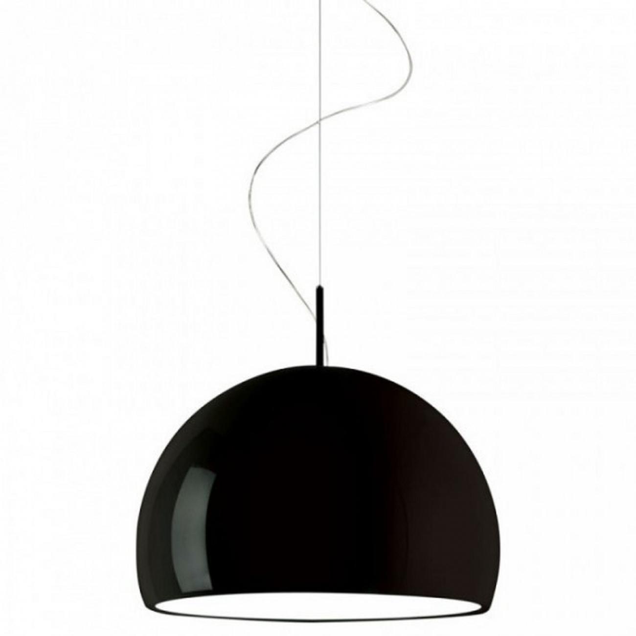 PRANDINA BILUNA S7 SUSPENDED LAMP GLOSSY BLACK