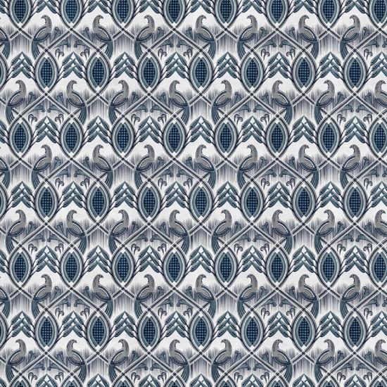 LONDON ART BLUEBIRDS WALLPAPER