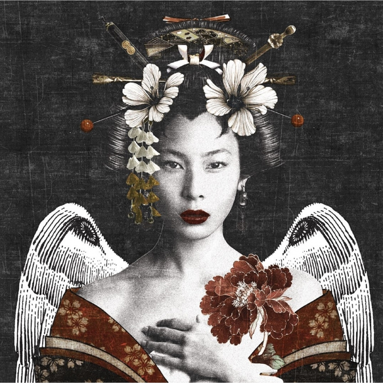 London Art Geisha Wallpaper Tattahome