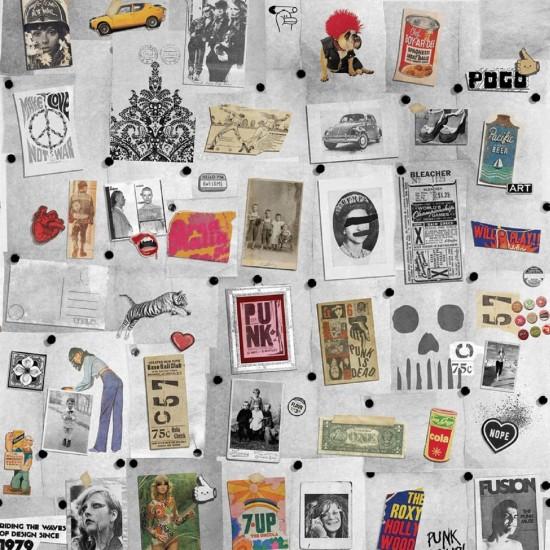LONDON ART SEVENTIES WALLPAPER