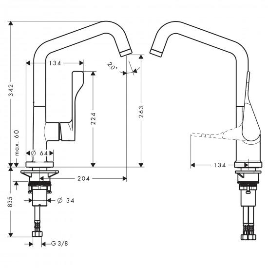 Axor Citterio kitchen mixer