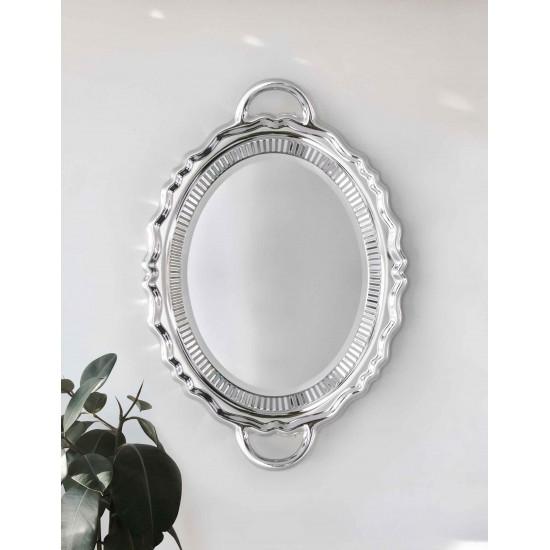 Qeeboo Plateau Miroir Metal Silver
