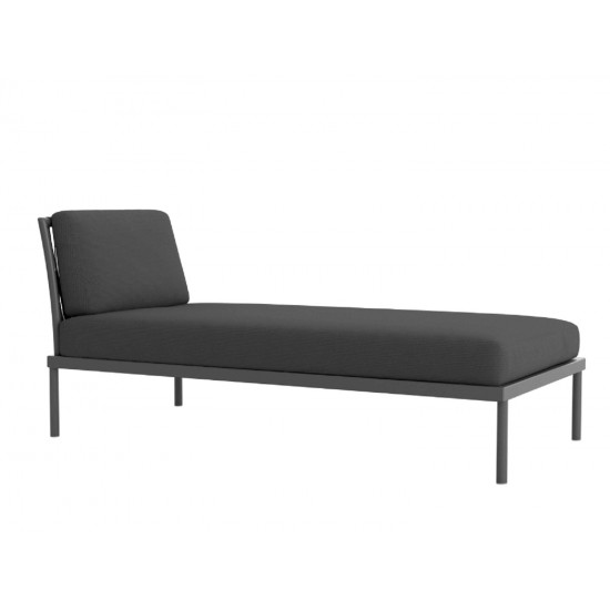 ATMOSPHERA FLASH GREY CHAISE LONGUE