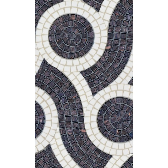 BISAZZA DECORI PLAIT BLACK