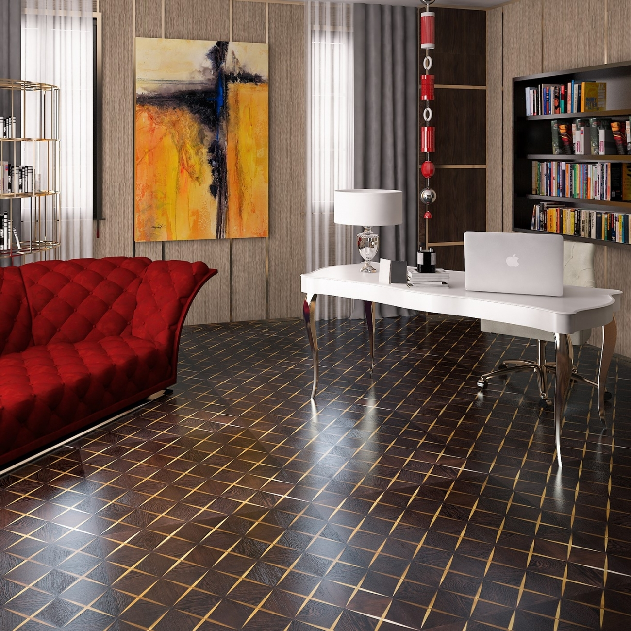 Wenge Oak Solid Wood Flooring alma wood intarsi space wenge' - tattahome