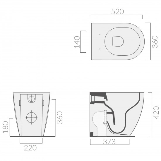 Galassia Dream floorstanding wc