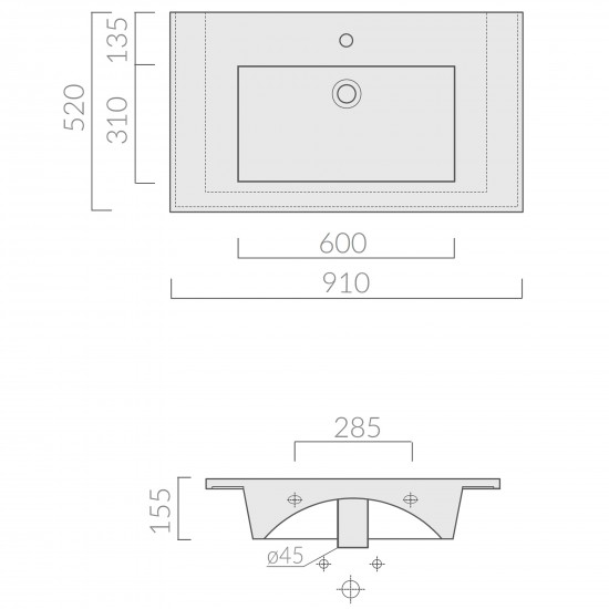Galassia Plus Design basin