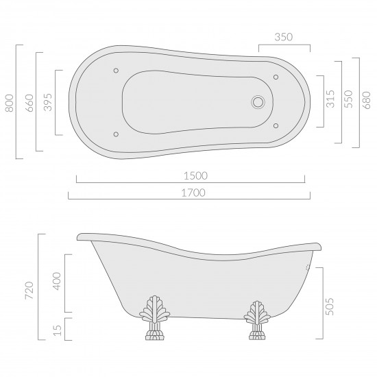 Galassia Ethos freestanding bathtub