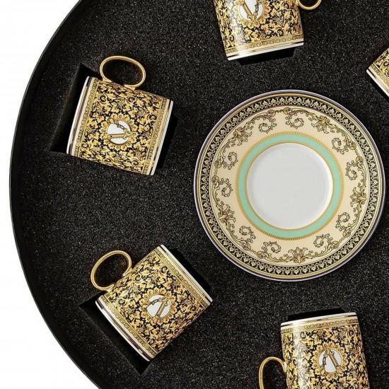 Rosenthal Versace Barocco Mosaic Set of 6 Espresso c/s