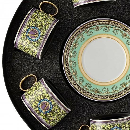 Rosenthal Versace Barocco Mosaic Set with 6 tea c/s