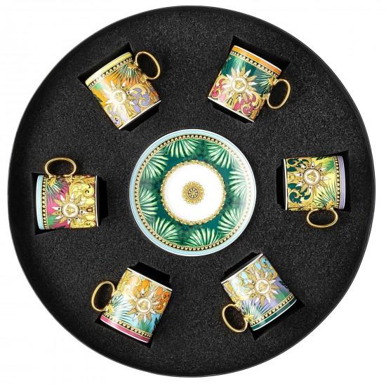 Rosenthal Versace Jungle Animalier Set of 6 Espresso