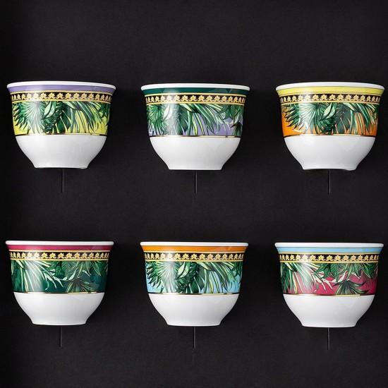 Rosenthal Versace Jungle Animalier Set of 6 mugs small w/o handle