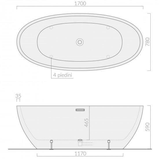 Galassia Dream freestanding bathtub