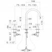 Newform Blink 3 holes basin mixer