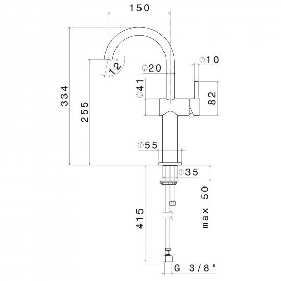 Newform Blink high basin mixer
