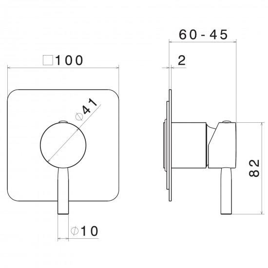 Newform Blink wall mounted basin mixer