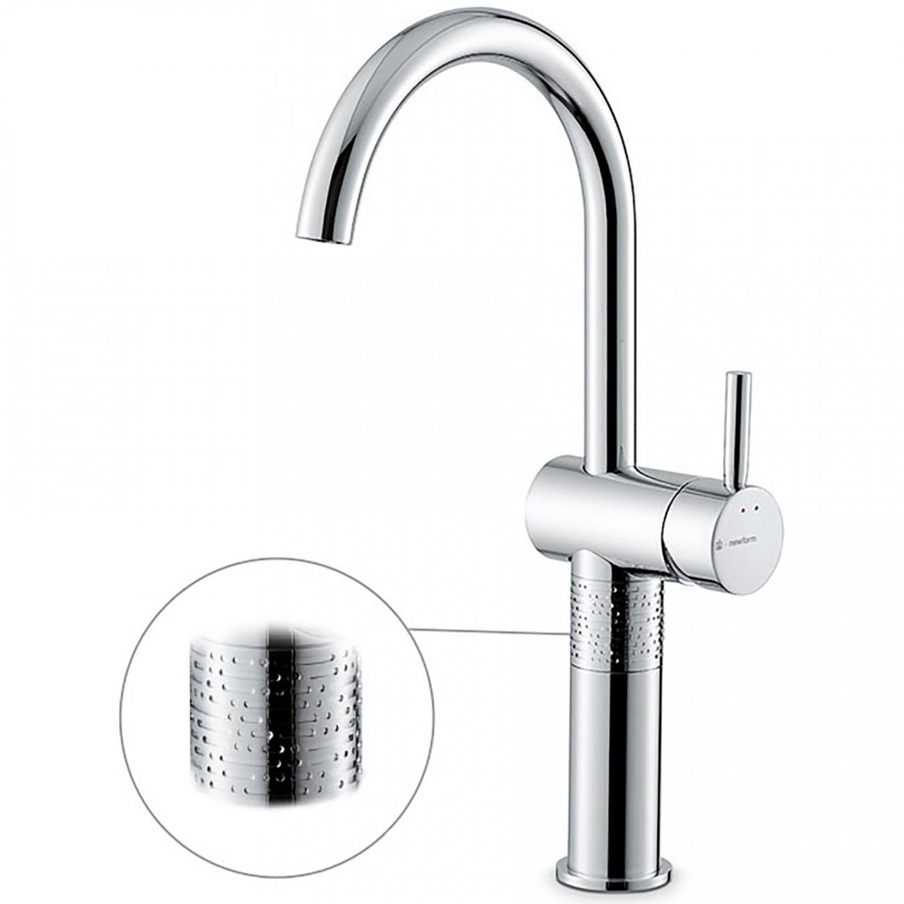 Newform Blink Luxury high basin mixer