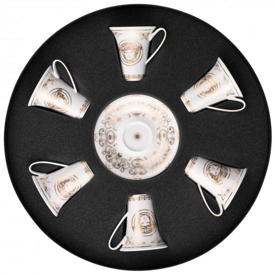 Rosenthal Versace Medusa Gala Set with 6 espresso c/s