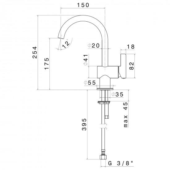 Newform Blink Chic basin mixer