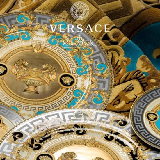 Rosenthal Versace Prestige Gala Bleu Platter on foot