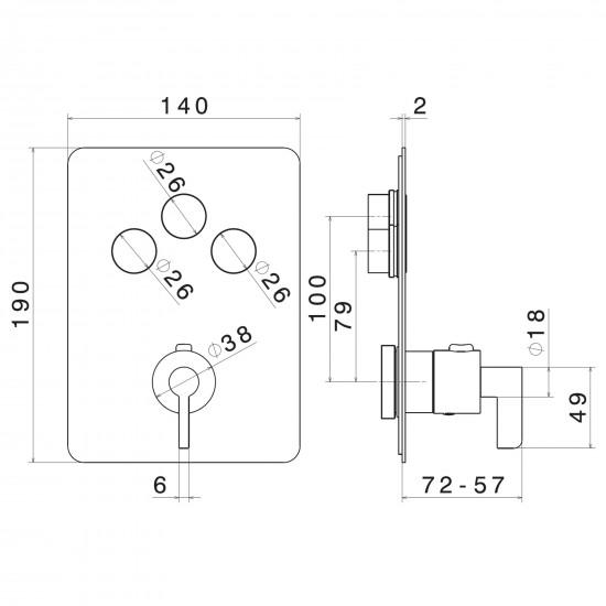 Newform Blink Chic miscelatore termostatico