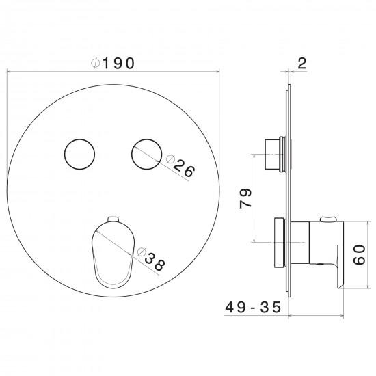 Newform Nio thermostatic mixer