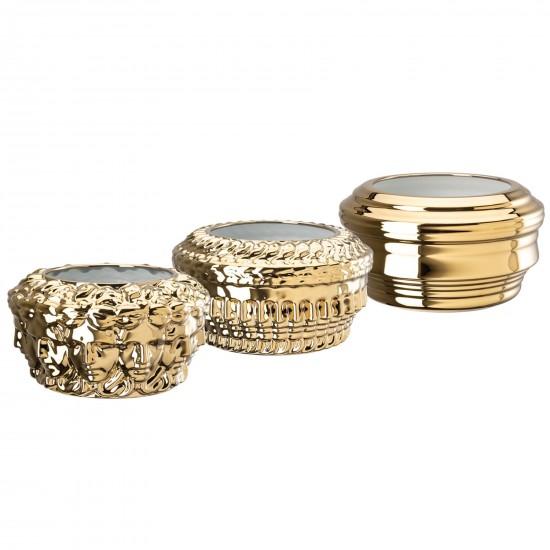 Rosenthal Versace Euphoria Limited Set Gold Vases