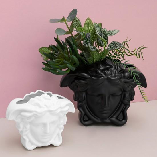 Rosenthal Versace Medusa Grande Black Vaso