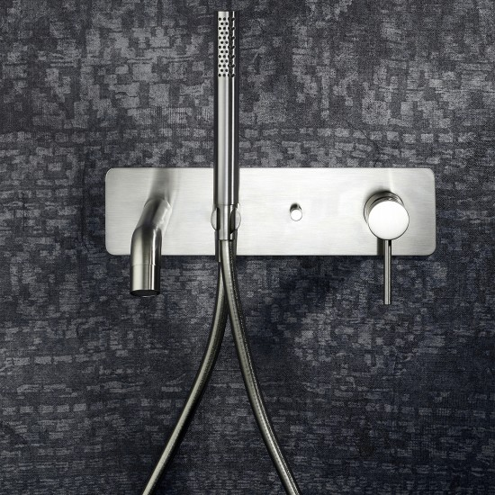 Newform X-Steel 316 wall mounted bath group