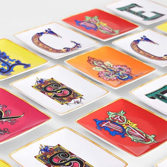 Rosenthal Versace Alphabet Coppetta quadra piana