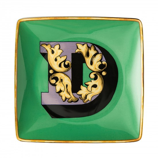 Rosenthal Versace Alphabet D Bowl square flat