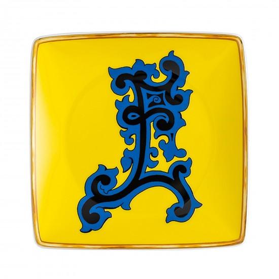 Rosenthal Versace Alphabet E Bowl square flat