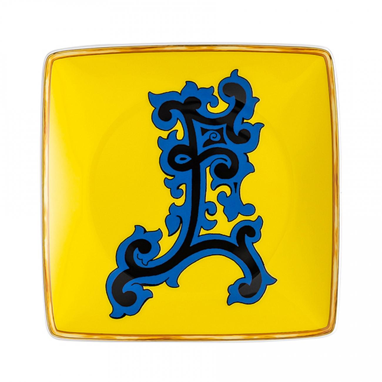 Rosenthal Versace Alphabet E Coppetta quadra piana