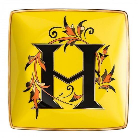 Rosenthal Versace Alphabet H Bowl square flat