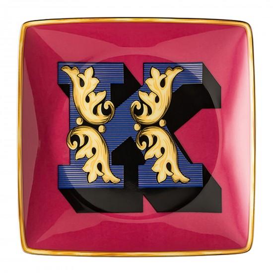 Rosenthal Versace Alphabet K Bowl square flat