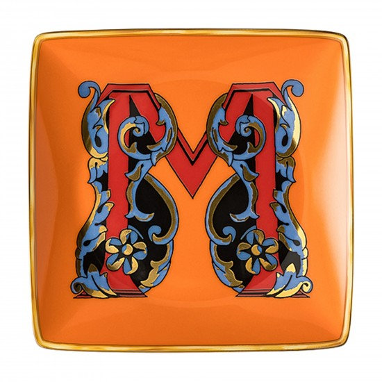 Rosenthal Versace Alphabet M Bowl square flat