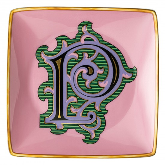Rosenthal Versace Alphabet P Bowl square flat