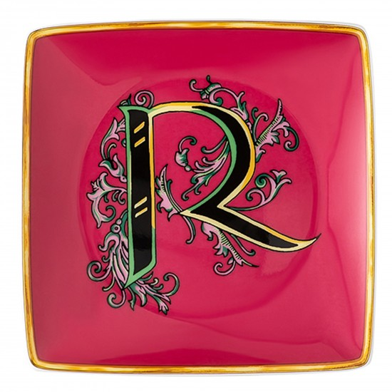 Rosenthal Versace Alphabet R Bowl square flat