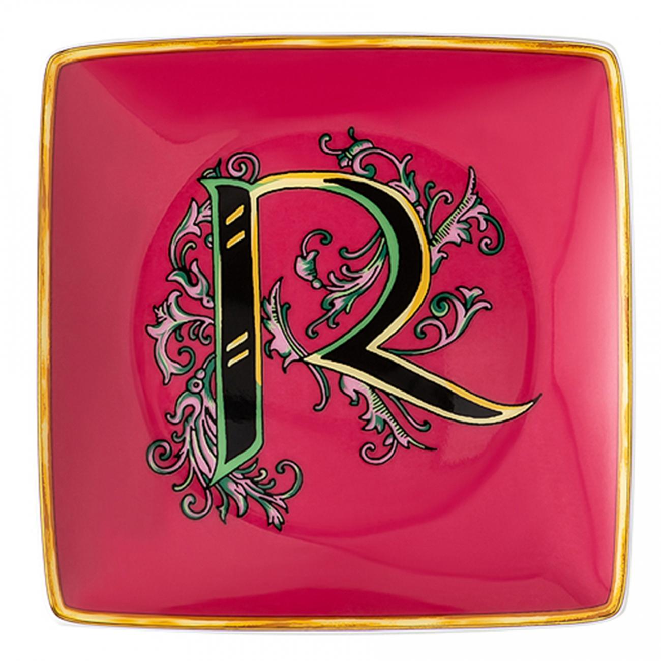 Rosenthal Versace Alphabet R Coppetta quadra piana