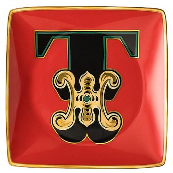 Rosenthal Versace Alphabet T Bowl square flat