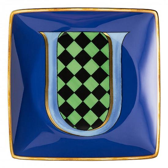 Rosenthal Versace Alphabet U Bowl square flat