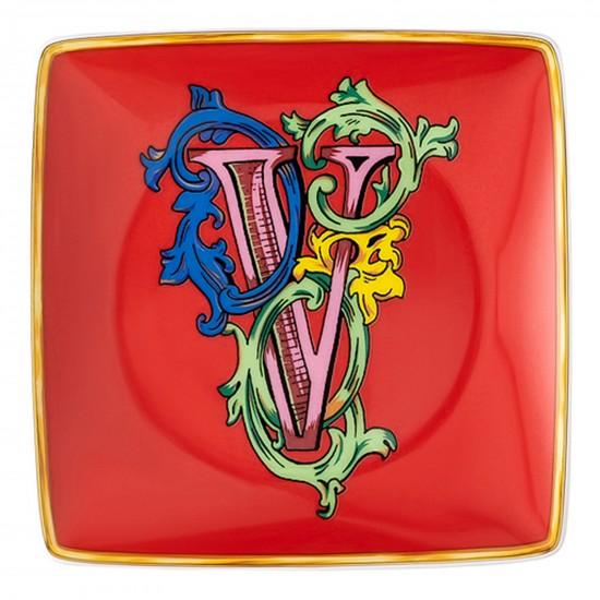 Rosenthal Versace Alphabet V Coppetta quadra piana