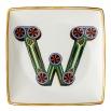 Rosenthal Versace Alphabet W Coppetta quadra piana