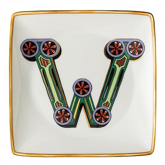 Rosenthal Versace Alphabet W Bowl square flat