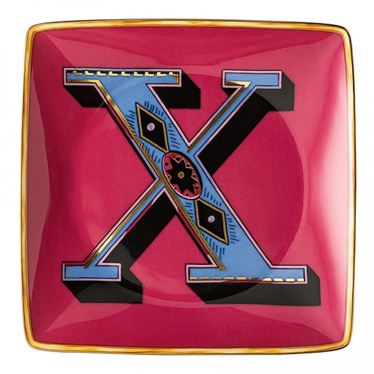 Rosenthal Versace Alphabet X Coppetta quadra piana