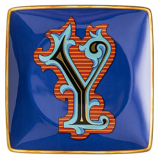 Rosenthal Versace Alphabet Y Bowl square flat